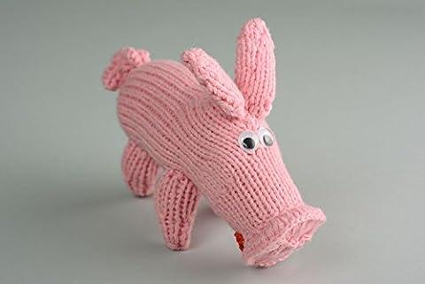 Homemade Crochet Toy Pig - Homemade Crochet