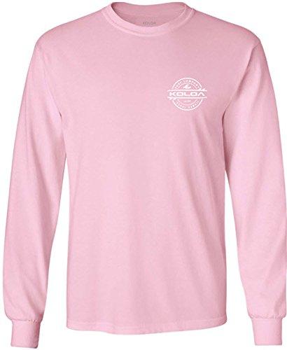 (Joe's USA Koloa Surf(tm) Long Sleeve Thruster Logo Heavy Cotton T-Shirt-LightPink/w-S)