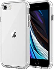 JETech Cover Compatibile Apple iPhone SE 2a Generazione, iPhone 7 e iPhone 8, Custodia con Paraurti Assorbimento Degli Urti e Anti-Graffio, HD Chiaro