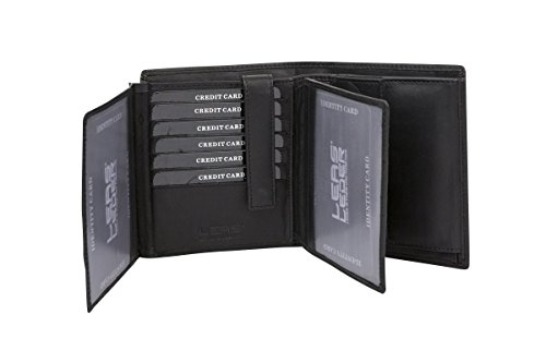 Protezione PelleNero Portafoglio Molte Carte BloccoVera Anti nfc Formato Leas Con Uomo Credito Rfid Donna Per Verticale E Rfid Tecnologia Di HD9IeW2EYb