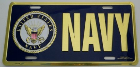 Tags Military U.S. Navy License Plate, Front Tag, used for sale  Delivered anywhere in USA