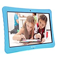 """10 Kids Tablet,10.1"""" Inch 1080p Full HD Display Android 7.0,2GB+32 GB,Dual Camera Front 2MP+ Rear 5MP,Bluetooth and WiFi Blue Kid-Proof Case(Blue)"""