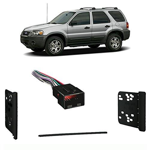 Fits Ford Escape 2004-2007 w/o Sub Double DIN Car Harness Radio Dash Kit ()