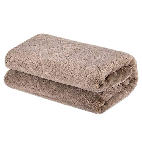 Baby Blanket or Pet Blanket, Comfy Soft Warm Blankets for Baby Girls and Boys, Dog and Cat, Plush Fleece Throw Blankets for Sofa, Couch, Travel and Camping (Grid 28\