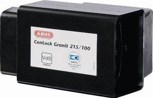 ABUS 215/100 Granit ConHasp with 37RK/70HB100 High Security Rekeyable Padlock by ABUS