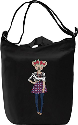 Koala girl Borsa Giornaliera Canvas Canvas Day Bag| 100% Premium Cotton Canvas| DTG Printing|