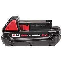 Milwaukee M18™ REDLITHIUM™ 2.0 Compact Battery Pack (48-11-1820)