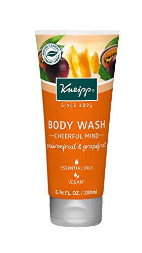 Kneipp Herbal Body Wash Gel Douche, Cheerful Mind Passionfruit & Grapefruit, 6.76 fl. Oz. (Orange Blossom Gel Perfume)