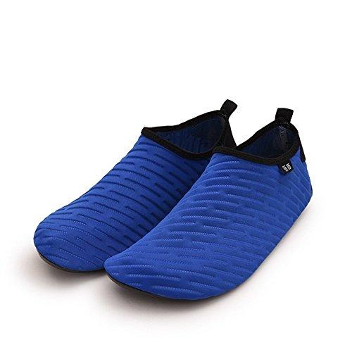 JUNHONGZHANG Portable Sports Calzado De Playa Stream Snorkel Buceo Calzado Antideslizante Caminadora Natación Zapatos Descalzo Piel Suave Zapatos Inferior Ash