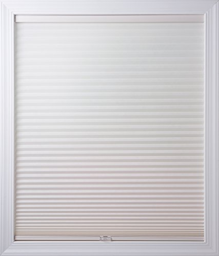 New Age Blinds Light Filtering Inside Frame Mount Cordless Cellular Shade, 30-1/4 x 72-Inch, White Dove