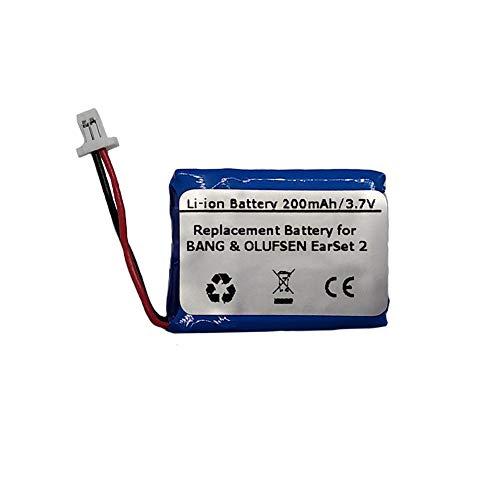 2 200 Mah Replacement Battery - 3.7V/200mAh Replacement Battery for BANG & OLUFSEN EarSet 2, PA-BO02