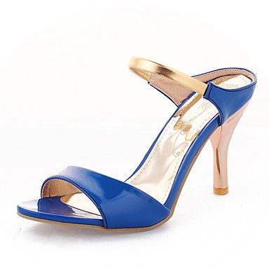 Le donne sexy elegante sandali donna tacchi Primavera Estate Autunno scarpe Club PU Office & Carriera Party & abito da sera Stiletto Heel Bianco Nero Peach , blu , us5.5 / EU36 / uk3.5 / CN35
