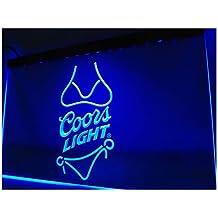 Coors Light Beer Bikini Bar Pub LED Neon Sign Man Cave A119-B