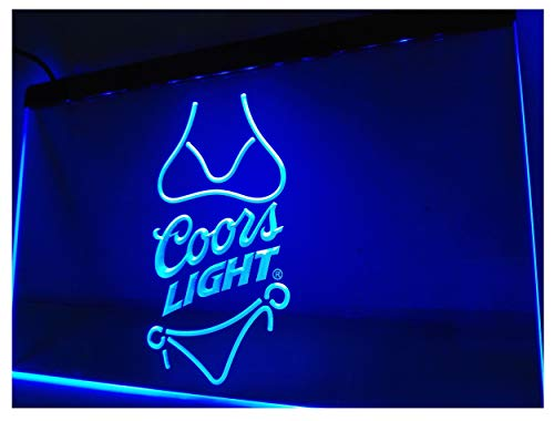 Coors Light Beer Bikini Bar Pub LED Neon Sign Man Cave A119-