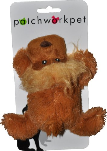 Patchwork Pet Toughy Wuffies Lion 6-Inch Squeak Toy for Dog on Cardstock