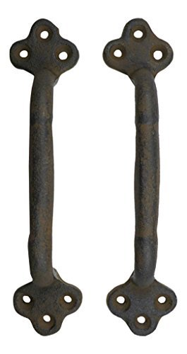 Rustic Cast Iron Gate Door Handle Pull Set of Two