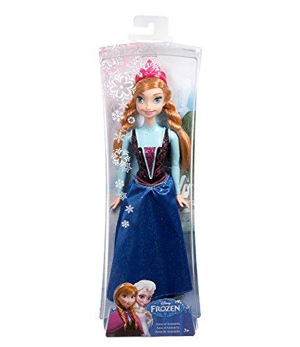 Disney-El-reino-del-hielo-Chicas-Disney-Frozen-Sparkle-Princess-Anna-Doll-Azul