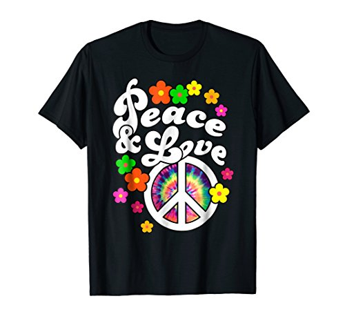 - Hippie Peace Sign Peace & Love Tshirt