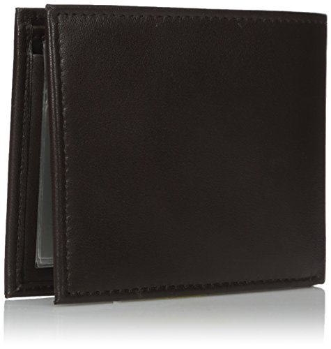 Tommy Hilfiger Men's Leather Passcase Wallet,Brown