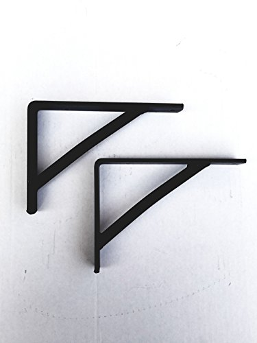 Wrought Iron Small Shelf Brackets Set of Two - Hand Made by Amish of Lancaster County PA