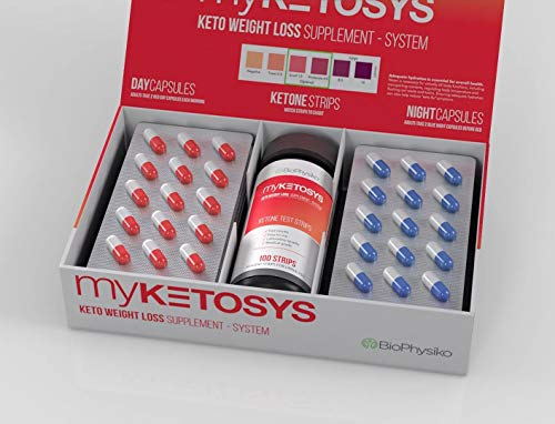 Myketosys 2019 Best Keto Weight Loss Pills For Women Men The Only Day Night Formula Keto Fat Burner Pills Plus Ketone Strips A Complete Keto