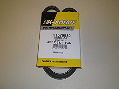 fastoworld 3/8 x 33.13 TRACTION BELT fits Murray, Craftsman snowblower 1733324sm, 579932ma