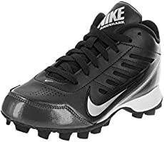 7be0fd293 Nike Boys Black Metallic Silver Land Shark 3 4 Football Cleat US 4.5Y