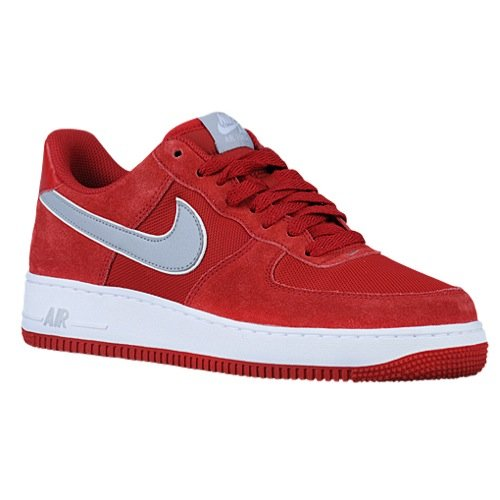nike air force 1 mens trainers 488298 sneakers shoes (uk 8.5 us 9.5 eu 43, gym red wolf grey white 623) - Nike Air Force Trainers