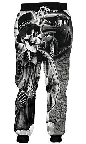 Youth Skull Pant - MoonStar Sweatpants Men/Women 3D Print Smoking Skull Pants Jogger Hip hop Fitness Baggy