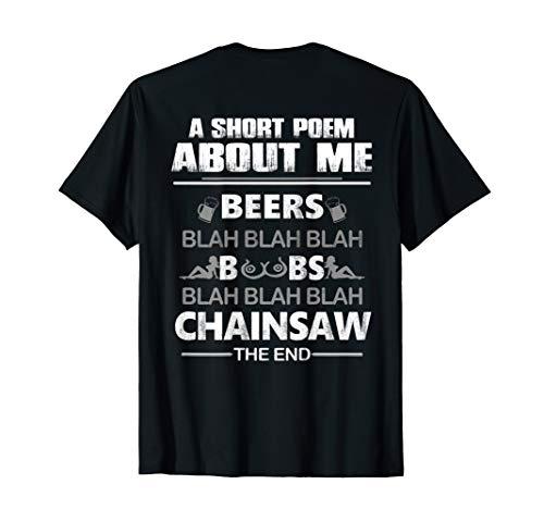 Mens A Short Poem About Me Tree Climber T-Shirt Arborist T-Shirt ()