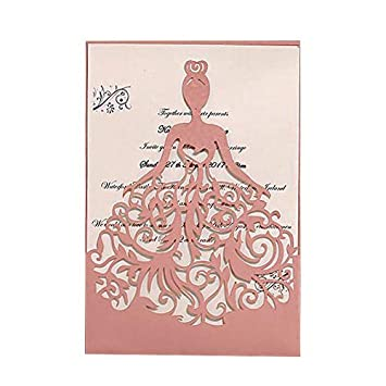 amazon co jp pink ponatia 25pcs lacer cut wedding invitation