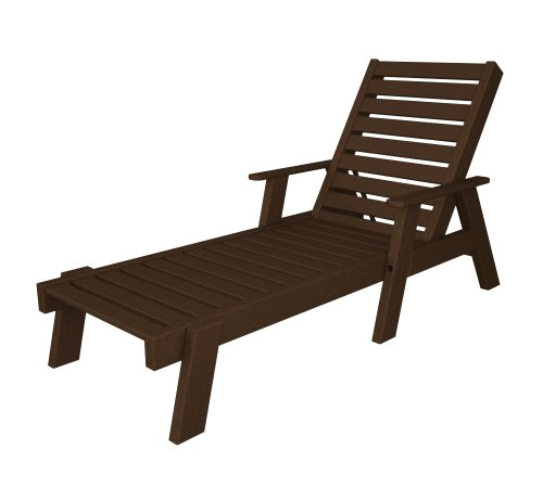 POLYWOOD AC2678-1MA Captain Chaise with Arms, Mahogany Review