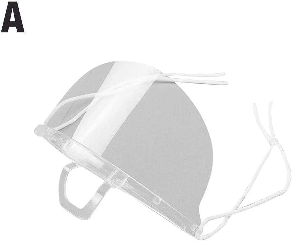 PANHU 20 PZ Copertura di Bocca in plastica Trasparente USA e Getta Aperta Protezione della Bocca Riutilizzabile Sanitaria Copertura della Bocca per Alimenti per Ristorante Tatuaggio Trucco Catering