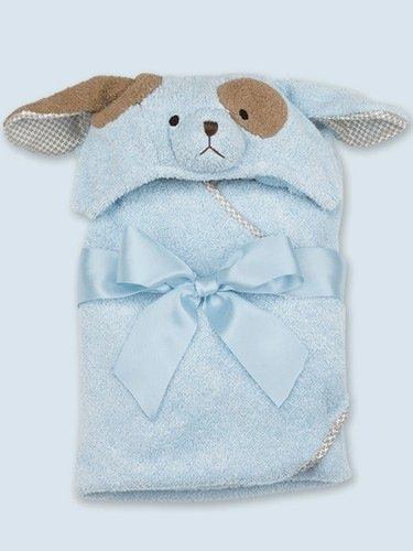 Bearington Hooded Bath Towel - Blue Puppy Dog