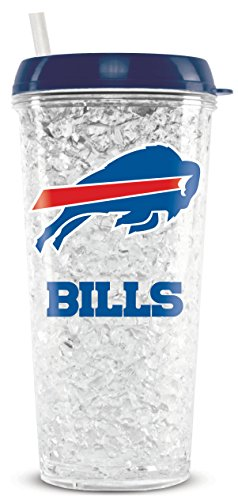 NFL Buffalo Bills 16oz Crystal Freezer Tumbler with Lid and Straw