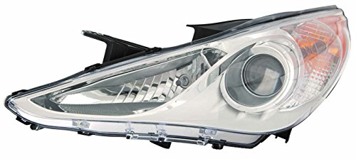 Hyundai Sonata 11-12 Headlight Assembly GLS Type 1(White Bezel) LH USA Driver Side