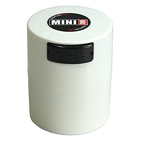 Minivac - 10g to 30 grams Airtight Multi-Use Vacuum Seal Portable Storage Container for Dry Goods, Food, and Herbs - (Tightvac 4 Ounce)