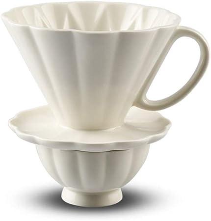 COKFEB Filtro de café Taza de cerámica con gotero de pétalos ...