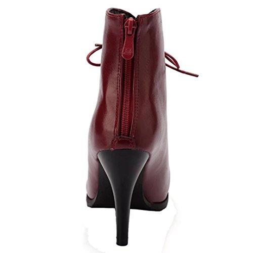 Classic Vino Da Boot Rosso Donna Aiyoumei RTdPR