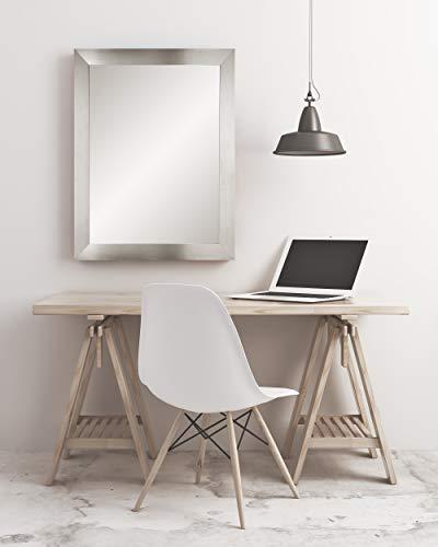 BrandtWorks Modern Wall Mirror, 32 x 36 , Silver