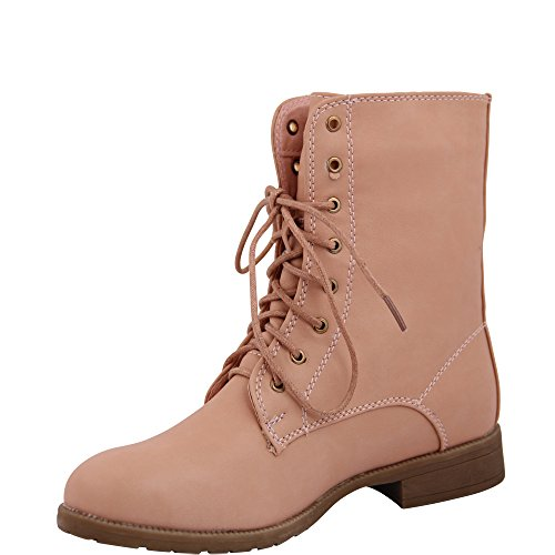 Unbekannt - botas estilo motero Mujer Rosa