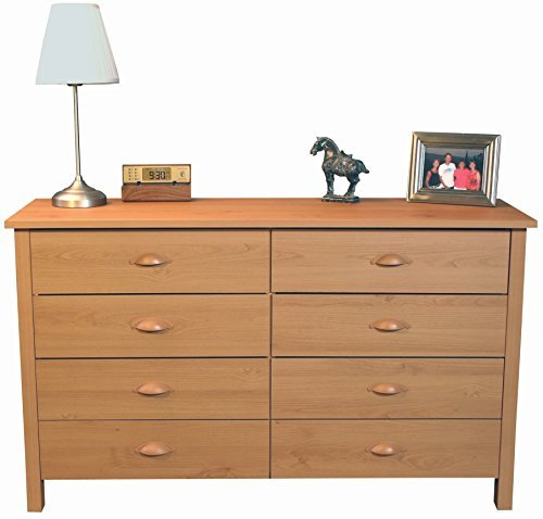Venture Horizon 8 Drawer Nouvelle Dresser Oak Cherry Heirloom Vanity