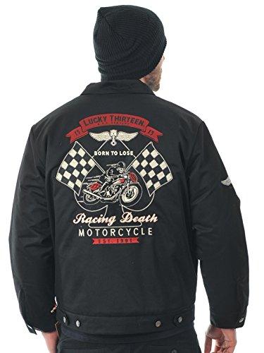 Veste Lucky 13 Racing Death - Fully Lined Noir