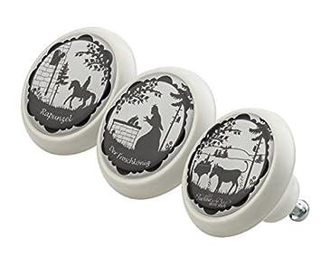 Mobelknopf Set 0192 Kinder Marchen 3er Keramik Porzellan Griffe Und