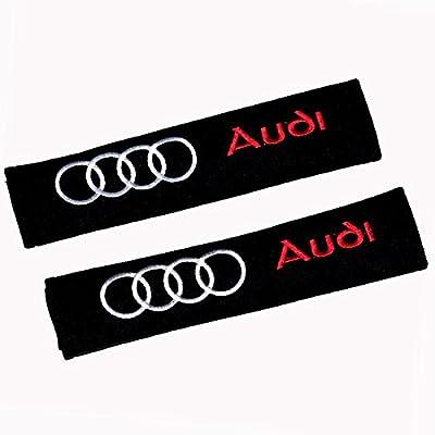 QZS Car Seat Belt Cover - 1 Pair/Set Car Seat Belt Shoulder Pads Strap Cover Cushions for Audi Cars: Automotive