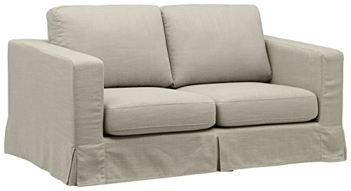 (Stone & Beam Bryant Modern Loveseat Sofa Couch with Slipcover, 69.3