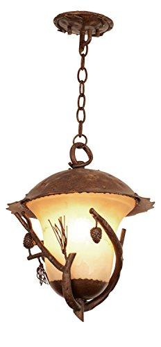 Kalco 9168PD Ponderosa Outdoor 3 Light Hanging Lantern Pendant, Large
