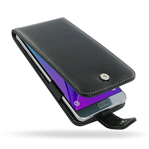 PDair Black Leather Flip-Style Case for Samsung Galaxy Note 5