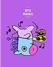 Kpop BTS BT21 MANG Mystery NoteBook For Boys And Girls: Wide Ruled Lined Big NoteBook Personal Journal For ARMYs
