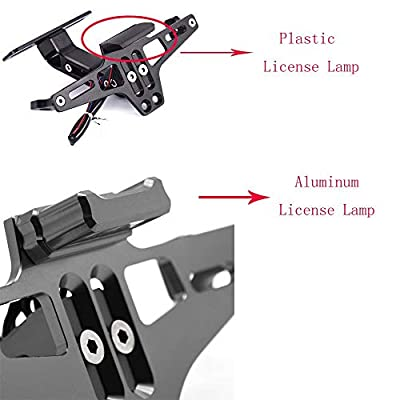 Motorcycle Accessories Universal Fender Eliminator License Plate Bracket Holder Ho Tidy Tail with Aluminium LED Light For Yamaha FZ07 FZ09 FZ10 For BMWS1000RR S1000R S1000XR R1200GS LC ADV (Blue): Automotive